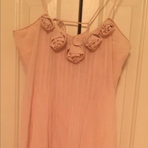 Flouncy gauze pale pink Rebecca Taylor dress S